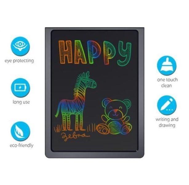 """Ψηφιακός πίνακας γραφής LCD 12 """" με πολύχρωμο φόντο 3427"""
