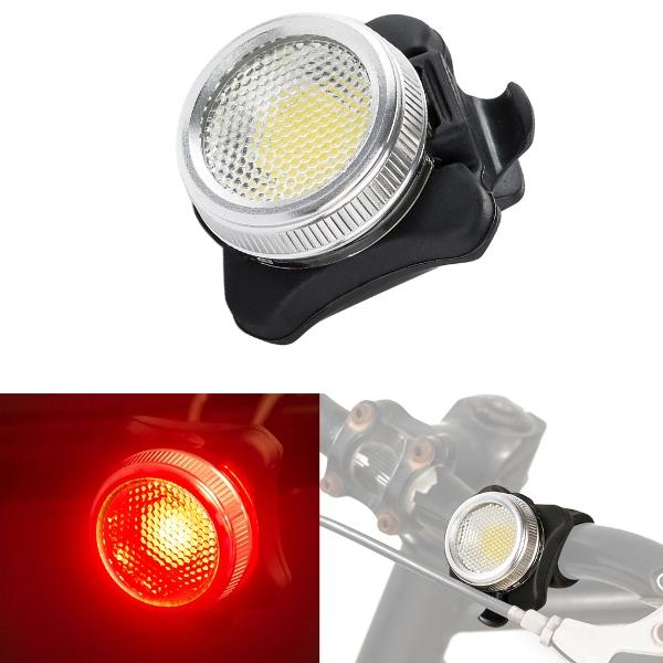 Έντονο επαναφορτιζόμενο πίσω φως ποδηλάτου