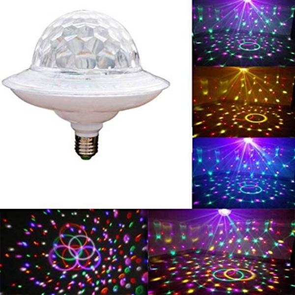 Φωτορυθμικό φωτιστικό LED UFO E27