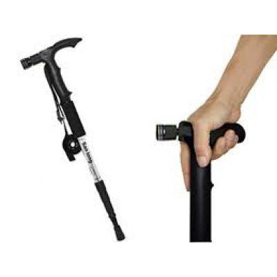 Τηλεσκοπικό μπαστούνι - μπατόν με ισχυρό φακό Led & πυξίδα