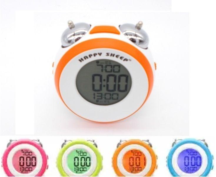 Ρολόι ξυπνητήρι με διπλό κουδούνι Happy Sheep HP664A-ΠΟΡΤΟΚΑΛΙ