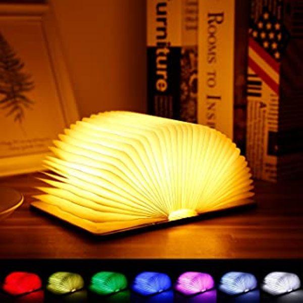 Μίνι επαναφορτιζόμενο φωτιστικό βιβλίο BookLamp  RGB LED USB-ΚΑΦΕ