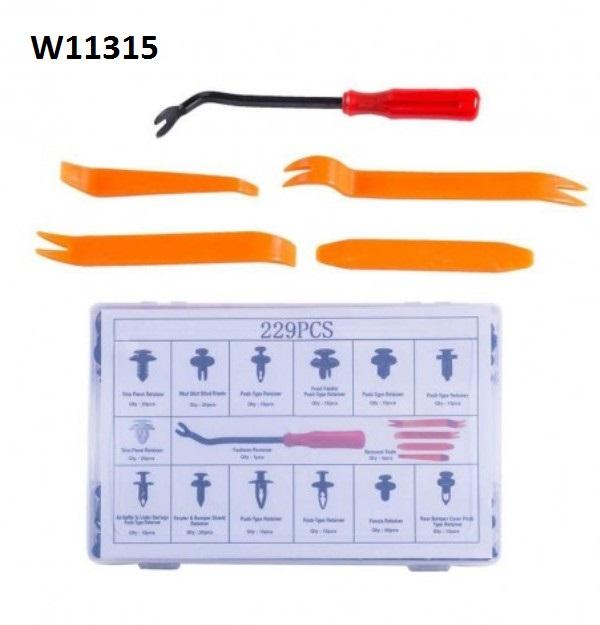 Πλαστικά κουμπώματα κλιπς σε κασετίνα 229 τεμάχια W11315 WENCHANG