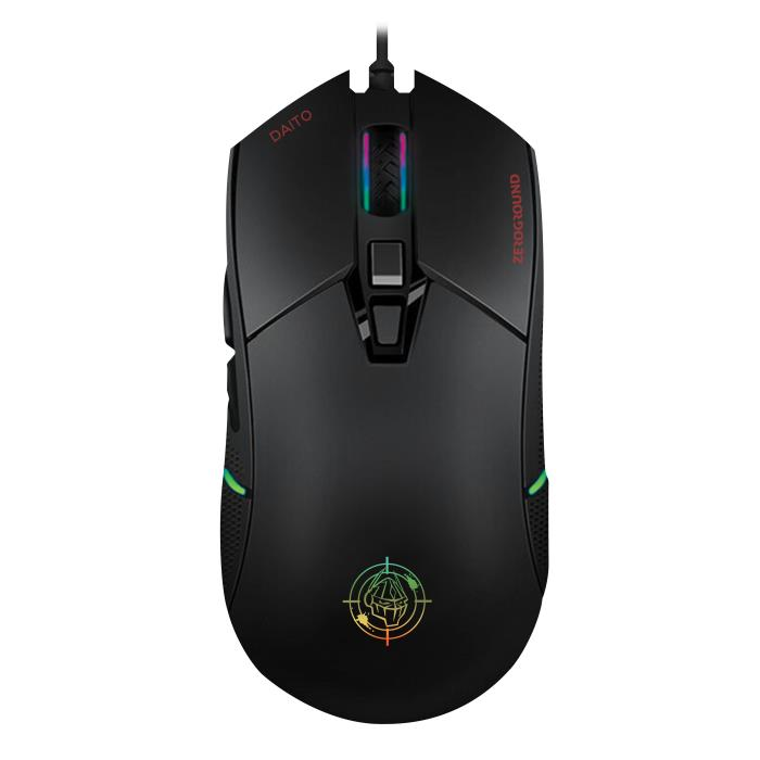 Zeroground MS-4000G Daito RGB Gaming Ποντίκι Black