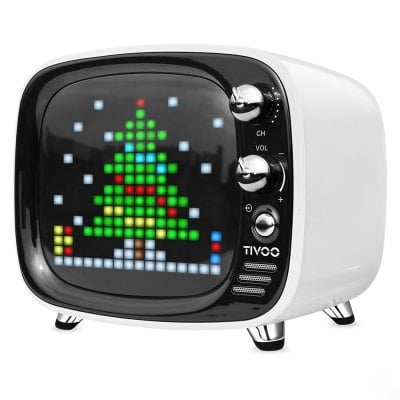 DIVOOM Tivoo Retro Mini Bluetooth Ηχείο Με Γραφικά White