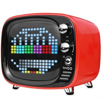 DIVOOM Tivoo Retro Mini Bluetooth Ηχείο Με Γραφικά Red