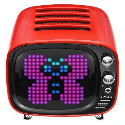 DIVOOM Tivoo Retro Mini Bluetooth Ηχείο Με Γραφικά Red