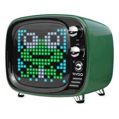 DIVOOM Tivoo Retro Mini Bluetooth Ηχείο Με Γραφικά Green