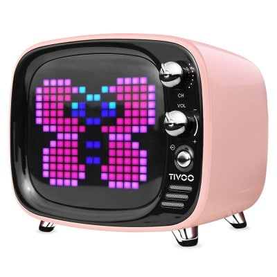 DIVOOM Tivoo Retro Mini Bluetooth Ηχείο Με Γραφικά Pink
