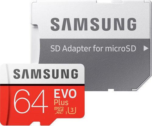 Samsung Evo Plus microSDXC 64GB U3 with Adapter MB-MC64GA/EU