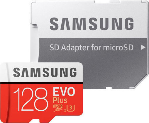 Samsung Evo Plus microSDXC 128GB U3 with Adapter MB-MC128GA/EU