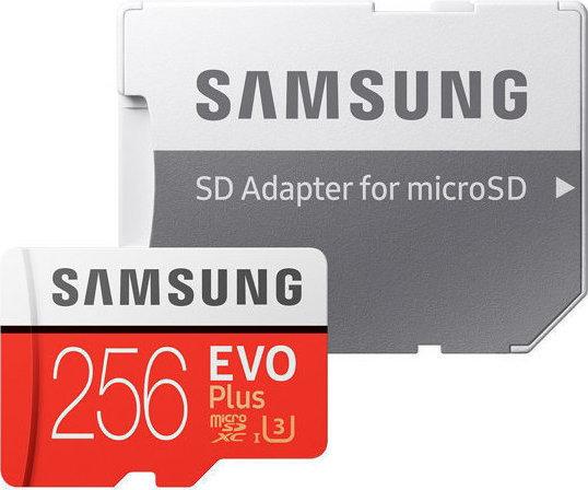 Samsung Evo Plus microSDXC 256GB U3 with Adapter MB-MC256GA/EU