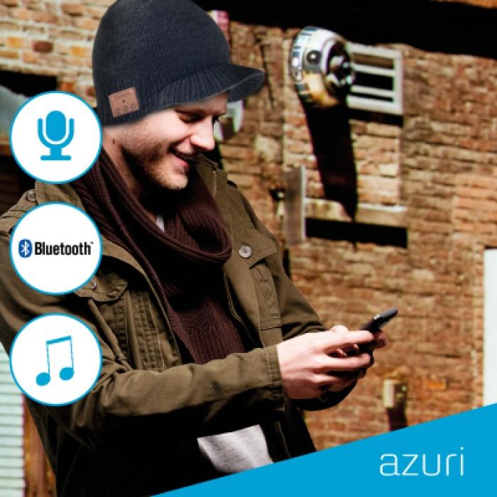 Σκούφος Azzuri Beanie με bluetooth ενσωματωμένα ακουστικά OEM, Gray
