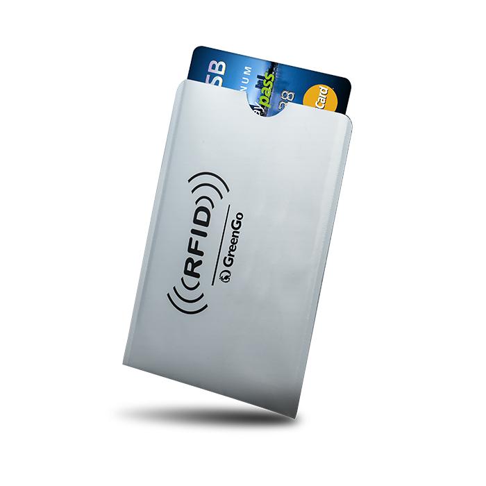 GREENGO RFID Θήκη Paypass προστασίας ασύρματης ανάγνωσης πιστωτικών καρτών