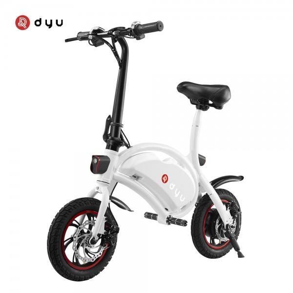 Ηλεκτρικό Ποδήλατο DYU D1 Deluxe 10Ah Λευκό
