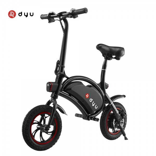Ηλεκτρικό Ποδήλατο DYU D1 Deluxe 10Ah Μαύρο