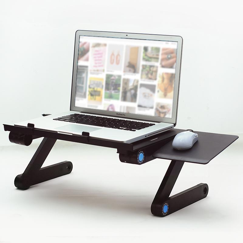Πτυσσόμενο τραπεζάκι για laptop με 2 ανεμιστήρες ψύξης και θέση mouse (T8) -  321