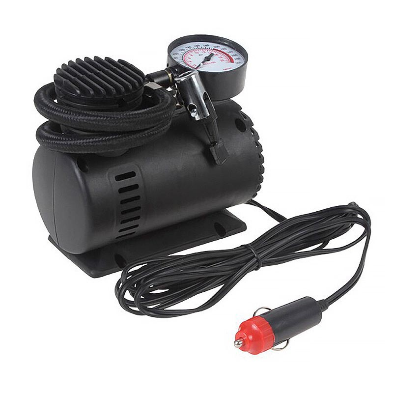 Φορητή ηλεκτρική τρόμπα αυτοκινήτου με μανόμετρο - Hi-Tech 18532 air compressor