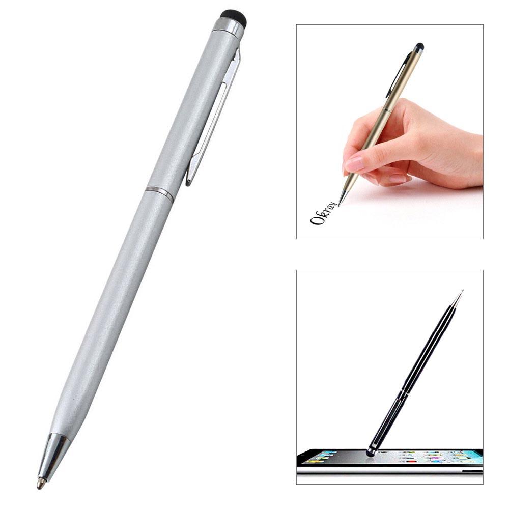 Γραφίδα στυλό με πενάκι για οθόνες αφής - Ασημί - OEM 18881