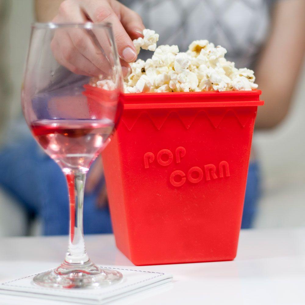 Σκεύος για σπιτικό ποπ κορν σε φούρνο μικροκυμάτων - Pop Corn Magic - Κόκκινο - OEM 19430