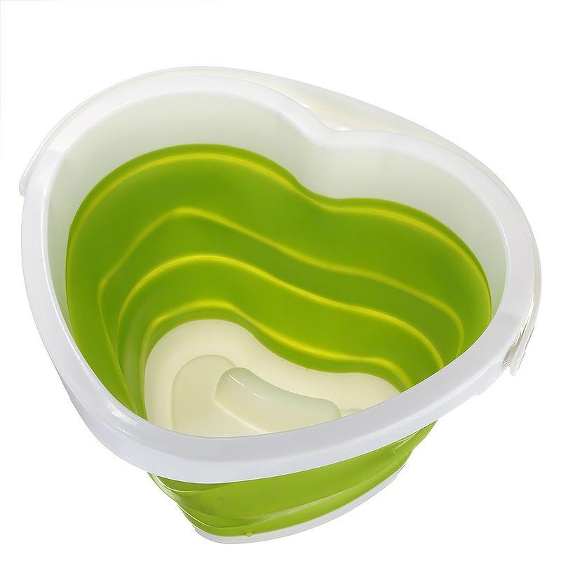 Αναδιπλούμενος - πτυσσόμενος κουβάς σιλικόνης σε σχήμα καρδιάς - OEM 20567