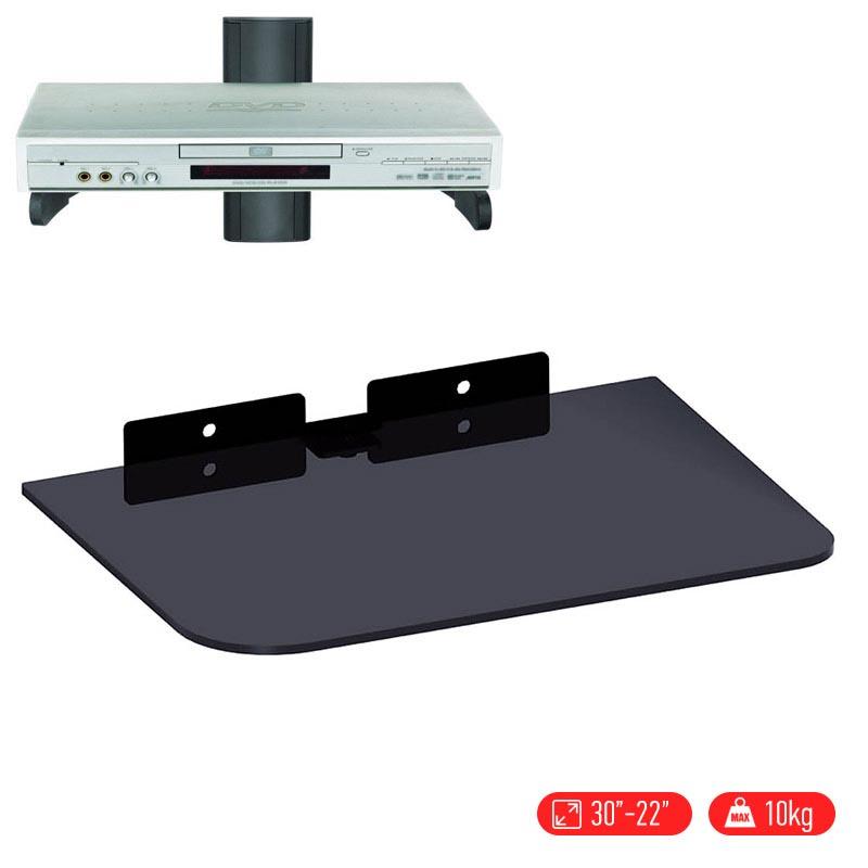 Βιδωτό ράφι από άθραυστο γυαλί, κατάλληλο ως βάση για ενισχυτές / DVD - CD/DVD Bracket OEM Q08-1 - 21797