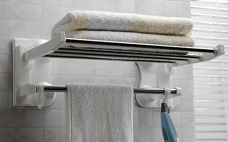 Πετσετοθήκη μπάνιου με ραφιέρα 63x24cm - OEM 22917
