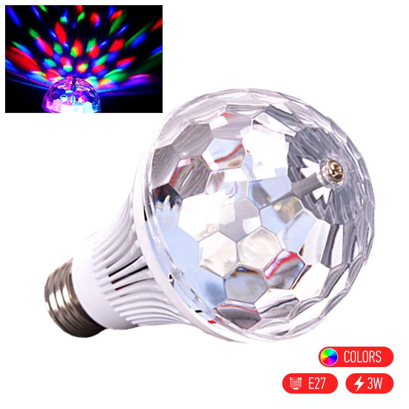 Περιστρεφόμενη LED disco λάμπα για πάρτι και χορευτική ατμόσφαιρα - OEM 22925