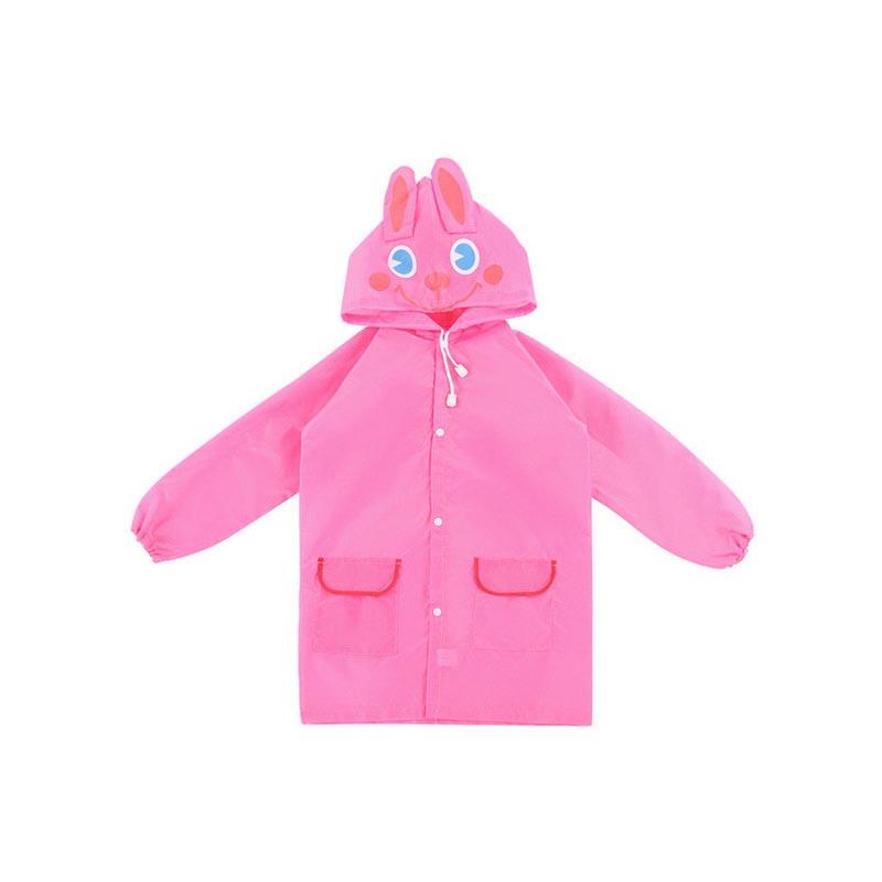 Παιδικό αδιάβροχο σε 4 σχέδια - Rain Coat for Children - OEM 22982 [Ροζ]