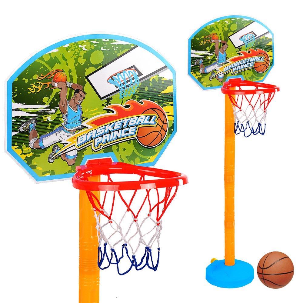 Παιδικό σετ μπασκέτα με επιδαπέδια βάση και ρυθμιζόμενο ύψος - 119cm - Jinbao Toys 24171