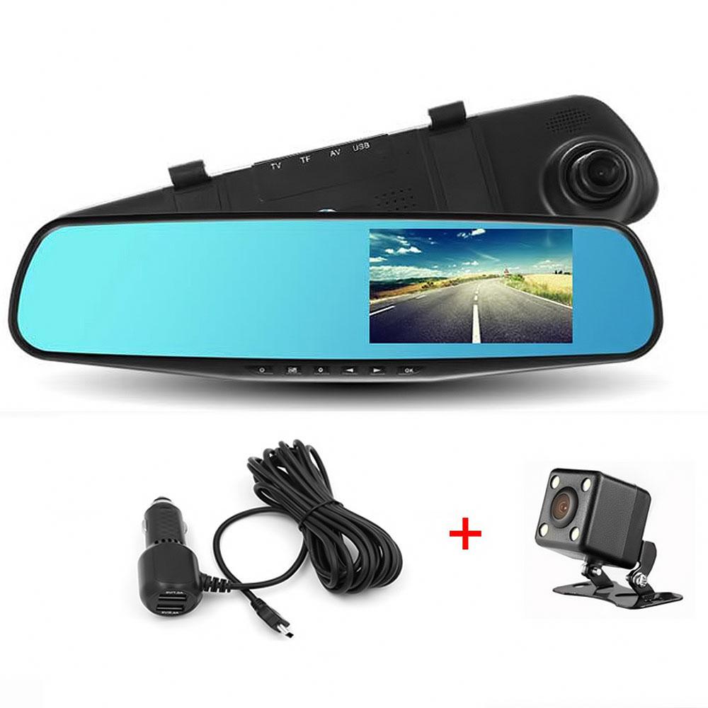 """Καθρέφτης αυτοκινήτου με δύο HD DVR κάμερες και TFT LCD οθόνη 4.3"""" - ΟΕΜ 25230"""