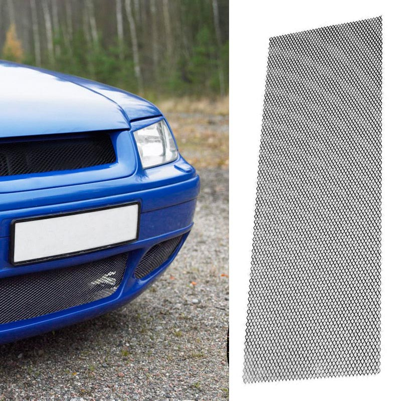 Διακοσμητική σίτα αλουμινίου για τον προφυλακτήρα/ποδιά του αυτοκινήτου - 100x33cm - Μαύρο - OEM 25701