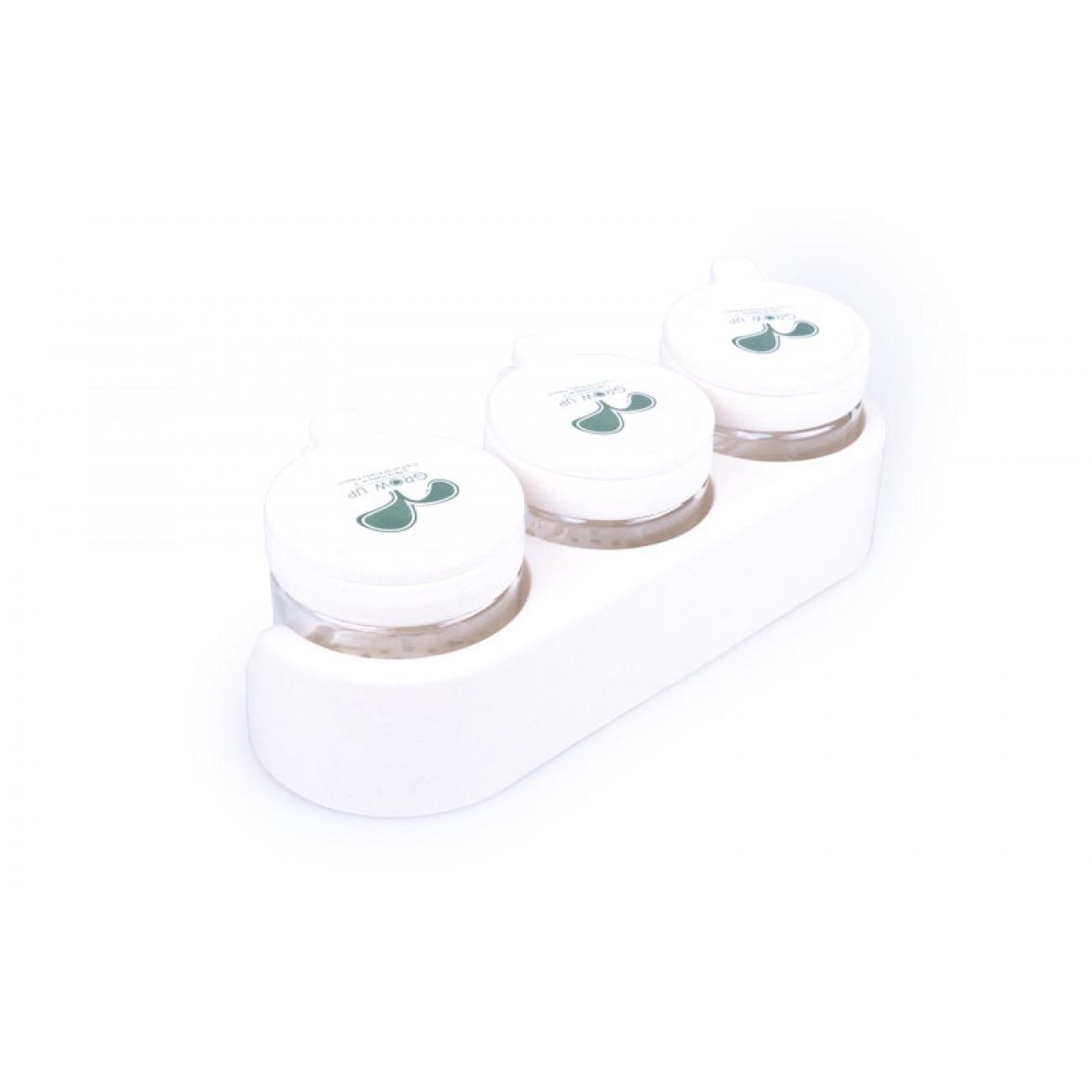 Σετ 3 βαζάκια μπαχαρικών - Μπεζ - ΟΕΜ 29350