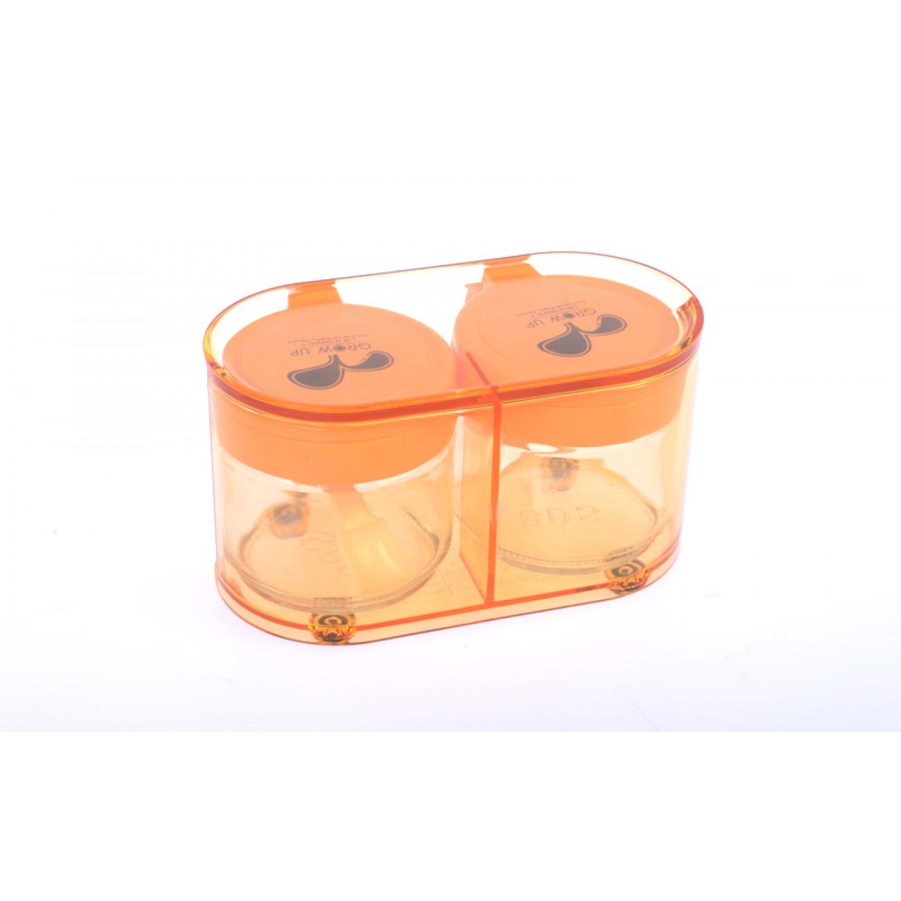 Σετ βαζάκια μπαχαρικών - Πορτοκαλί - ΟΕΜ 29356