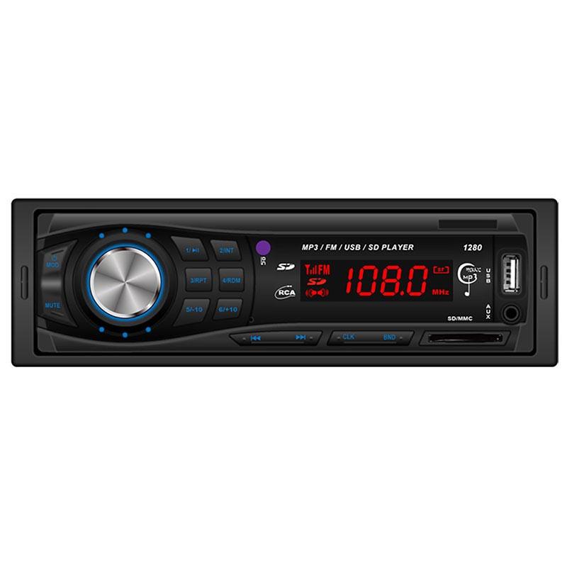MP3 player αυτοκινήτου με είσοδο USB/SD/AUX, ραδιόφωνο και χειριστήριο - Hi-Tech 1280 - 30852