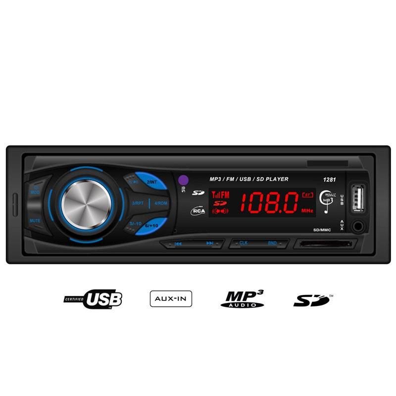 MP3 player αυτοκινήτου με είσοδο USB/SD/AUX, ραδιόφωνο και χειριστήριο - Hi-Tech 1281 - 30862