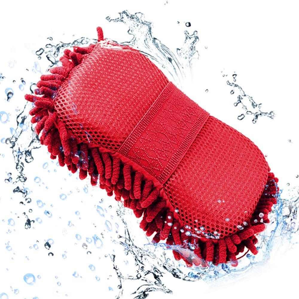 Σφουγγάρι - γάντι καθαρισμού αυτοκινήτου - Κόκκινο - OEM 31013
