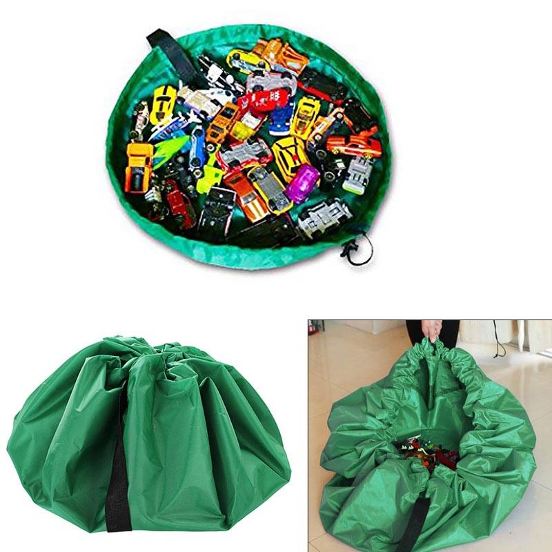 Παιδικό χαλί παιχνιδιού - τσάντα αποθήκευσης - Πράσινο - ΟΕΜ 31657
