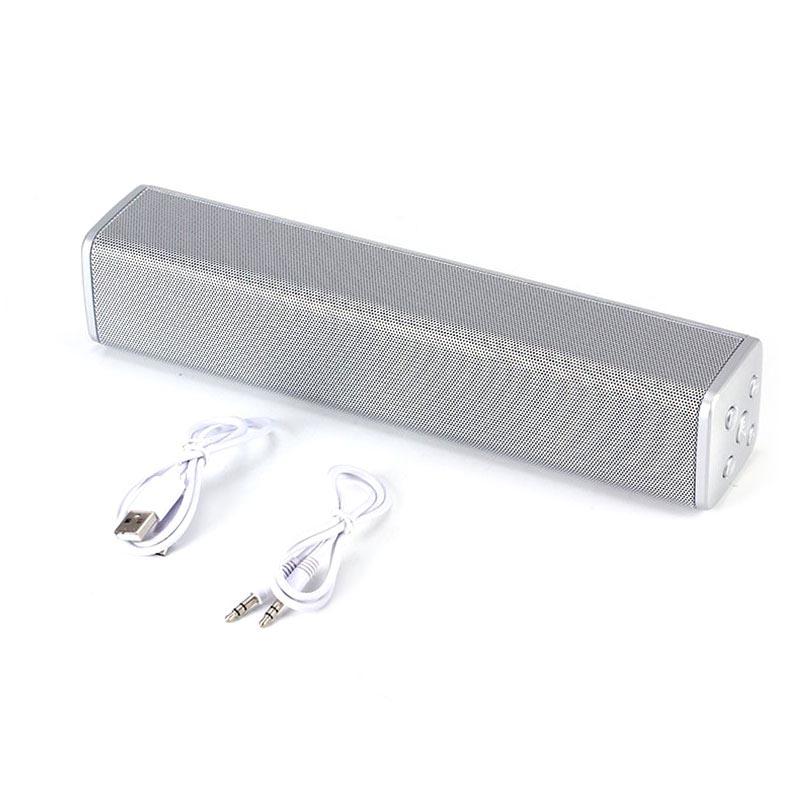 Φορητό ηχείο Bluetooth με ραδιόφωνο, USB και MicroSD κάρτα - Q28 - Ασημί - OEM 31988