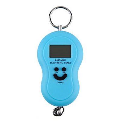 Φορητή ηλεκτρονική ζυγαριά με γάντζο στήριξης - 10gr-50kg - OEM 33296 [Γαλάζιο]