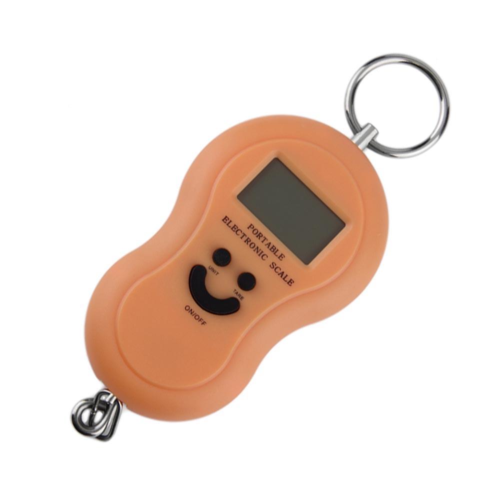 Φορητή ηλεκτρονική ζυγαριά με γάντζο στήριξης - 10gr-50kg - OEM 33296 [Πορτοκαλί]