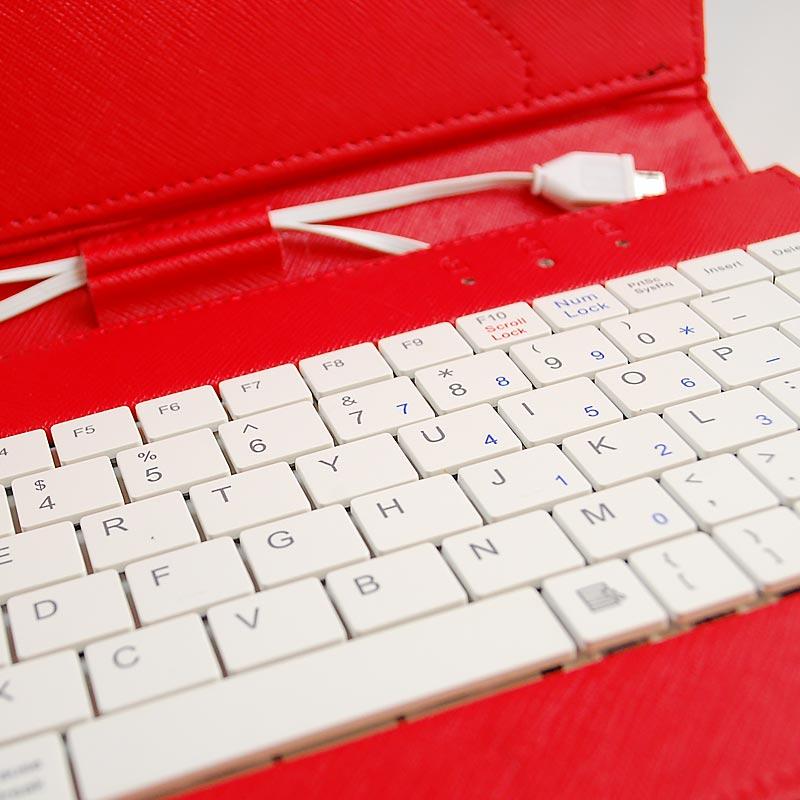 """Αναδιπλούμενη Θήκη με πληκτρολόγιο για Tablet 9"""" - Flip Cover Keyboard Case for Tablet 9"""" - OEM 3345 [Λιλά]"""