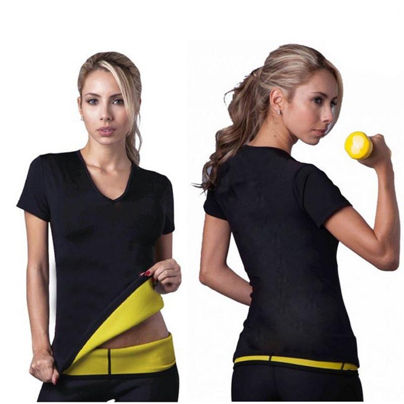 Γυναικεία μπλούζα κοντομάνικη εφίδρωσης και αδυνατίσματος από Neoprene - X-Large -  33846