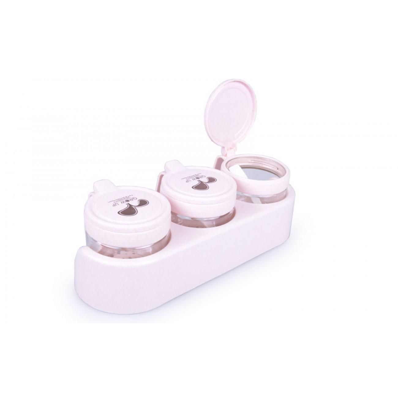 Σετ 3 βαζάκια μπαχαρικών - Ροζ - ΟΕΜ 34315