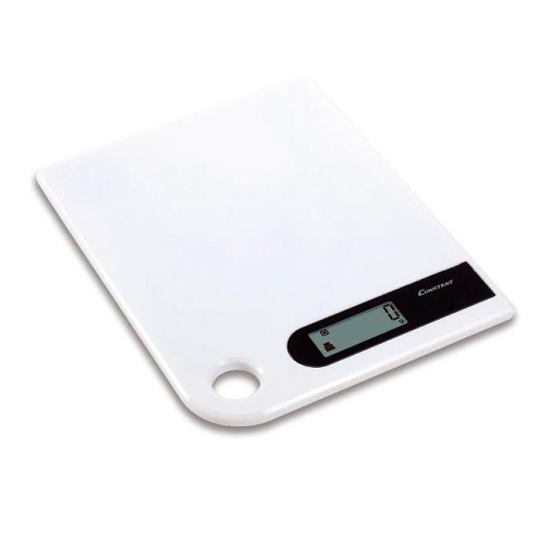 Ψηφιακή ζυγαριά κουζίνας Super Slim 5kg/1g με LCD οθόνη - Constant 14192-286B 51088-Λευκό - 1252 35352 + Λευκό