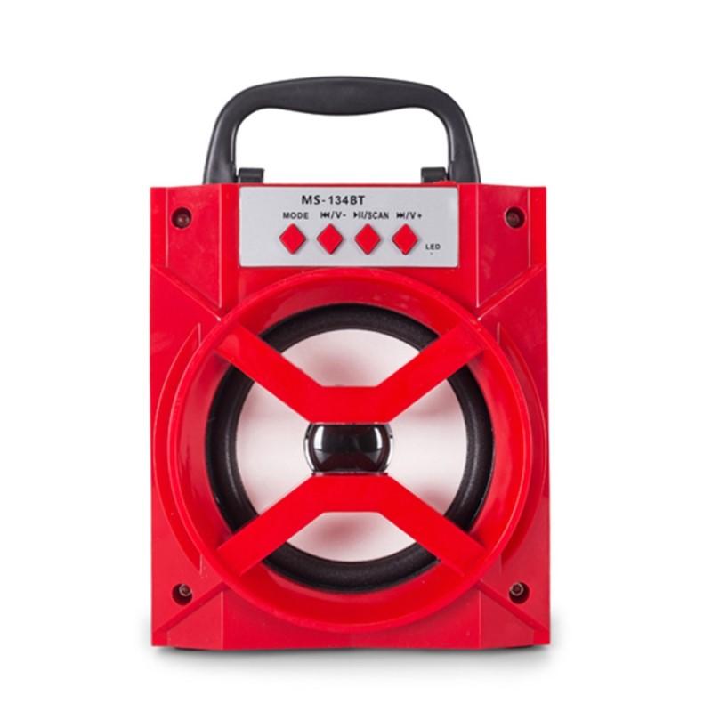 Φορητό ηχοσύστημα με είσοδο microSD/USB, Bluetooth και ραδιόφωνο MS-134BT - Κόκκινο -  35353