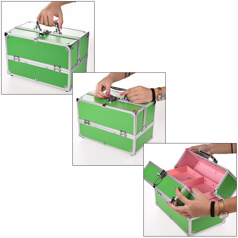 Βαλιτσάκι Αισθητικής και Κομμωτικής για επαγγελματίες με 4 συρτάρια - Μαύρο Μεταλλικό - ΟΕΜ 1252 35403