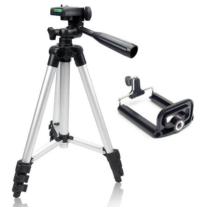 Φορητό Τρίποδο για Φωτογραφικές Μηχανές και κινητά  - Πτυσσόμενο σε 4 επίπεδα και με Αλφάδι - 3110 - 1252 35412