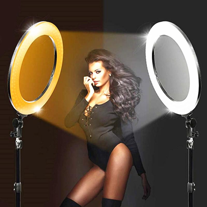 Ring Light Led με θήκη για κινητό για επαγγελματική φωτογράφιση και μακιγιάζ - Μαύρο - 1252 35513