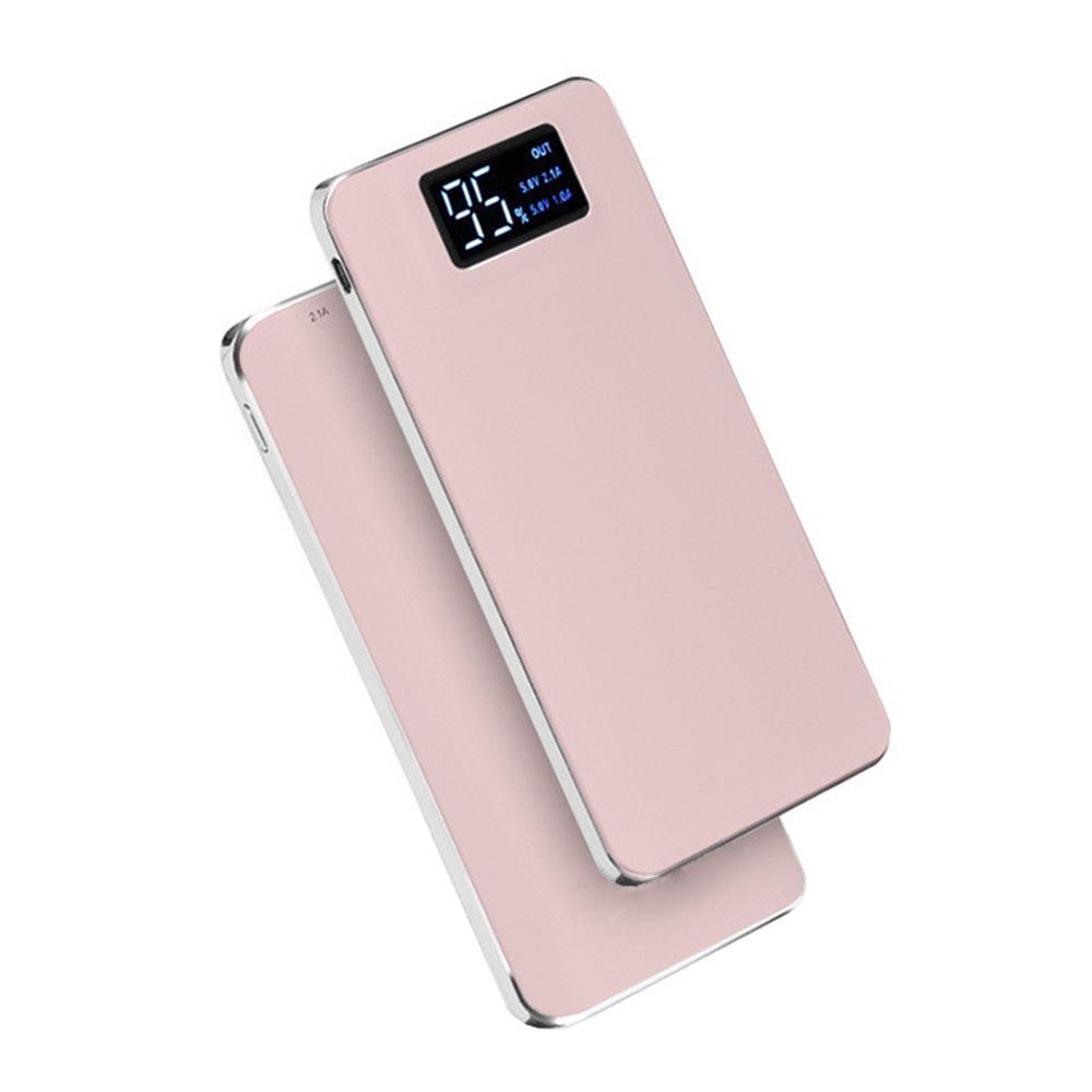 Power bank 5V/20000mAh με 2 θύρες USB, φακό και LCD οθόνη - Pink Gold - ΟΕΜ 47596
